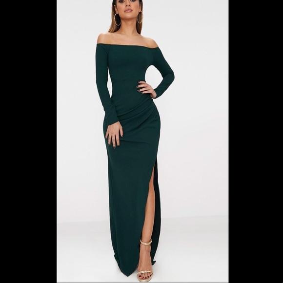 59e2f79041 PrettyLittleThing Dresses   Off Shoulder Long Sleeve Dress   Poshmark